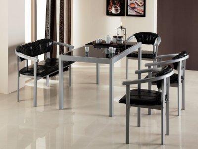 Стол обеденный со стеклом фабрика